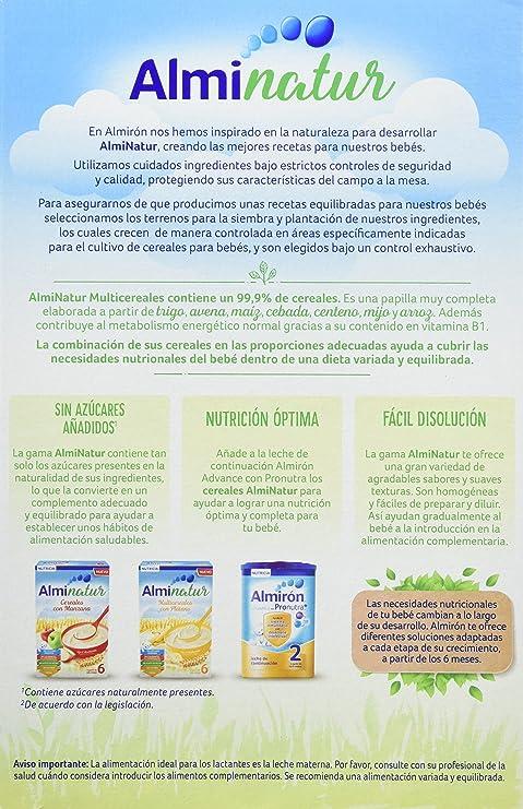 Alminatur Papilla de multicereales a partir de los 6 meses 250 g: Amazon.es: Alimentación y bebidas