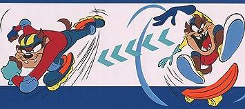 Taz Auf Skateboard Und Rollerblades Looney Tunes Disney Cartoon