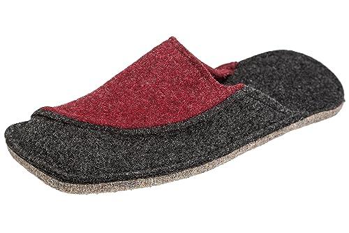 gibra - Zapatillas de Estar por casa de Fieltro para Mujer, Color Gris, Talla 44 EU: Amazon.es: Zapatos y complementos