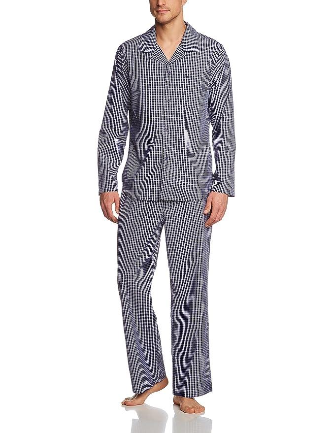 Seidensticker Pyjama langEnsemble de pyjamaManches longuesHomme, (Blau 800), XX-Large