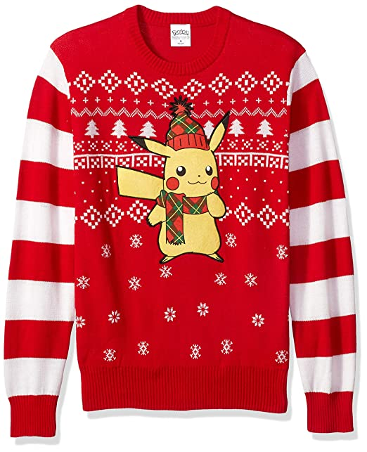 3fc7dc79 Pokemon Men's Ugly Christmas Sweater, red/Black, X-Large: Amazon.ca ...