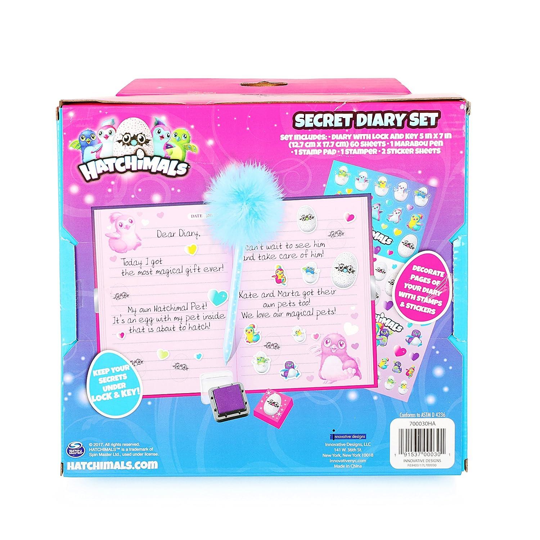Amazon.com: hatchimals Juego de diario secreto para chicas ...