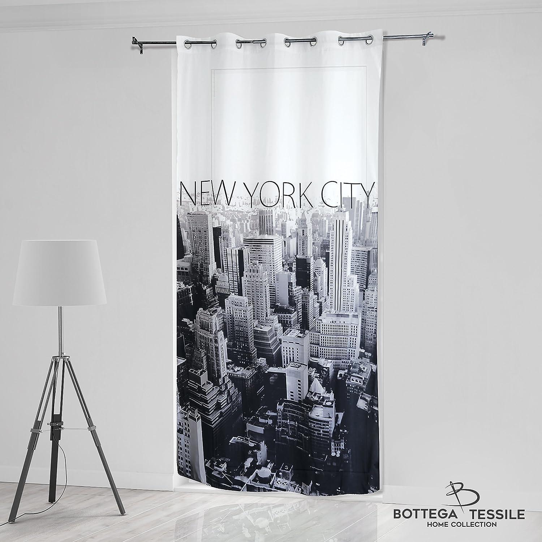Tenda per Interni ad Occhielli Mod. NEW YORK, Stampa Digitale - Mis. 140 x 280 cm BOTTEGA TESSILE