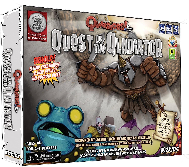 Quarriors: Quest Of The Qladiator Expansion - Juego de Tablero (NECA WZK70833) (versión en inglés): Amazon.es: Juguetes y juegos