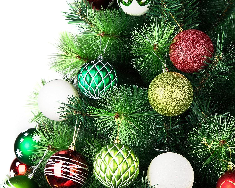 Amazon.com: iPEGTOP Christmas Balls Ornaments - 24ct Shatterproof ...