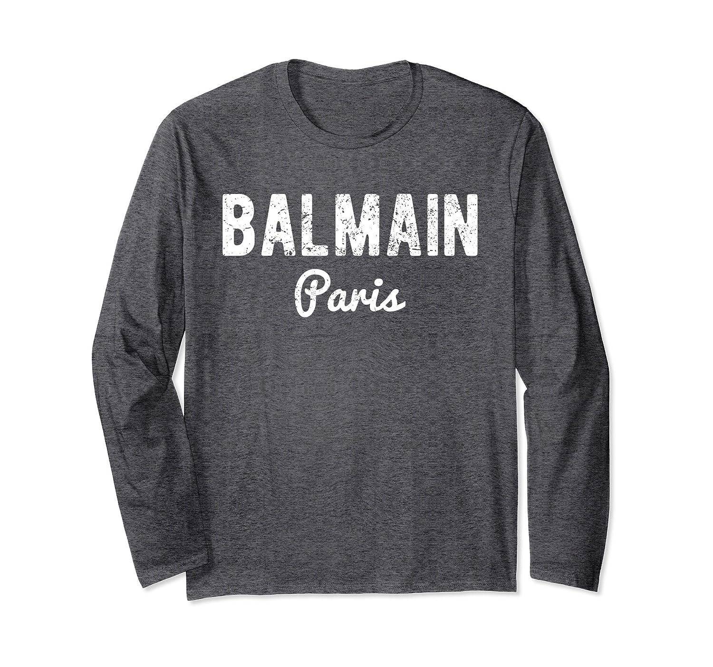 balmain paris t shirt long sleeve men women alottee gift alottee. Black Bedroom Furniture Sets. Home Design Ideas
