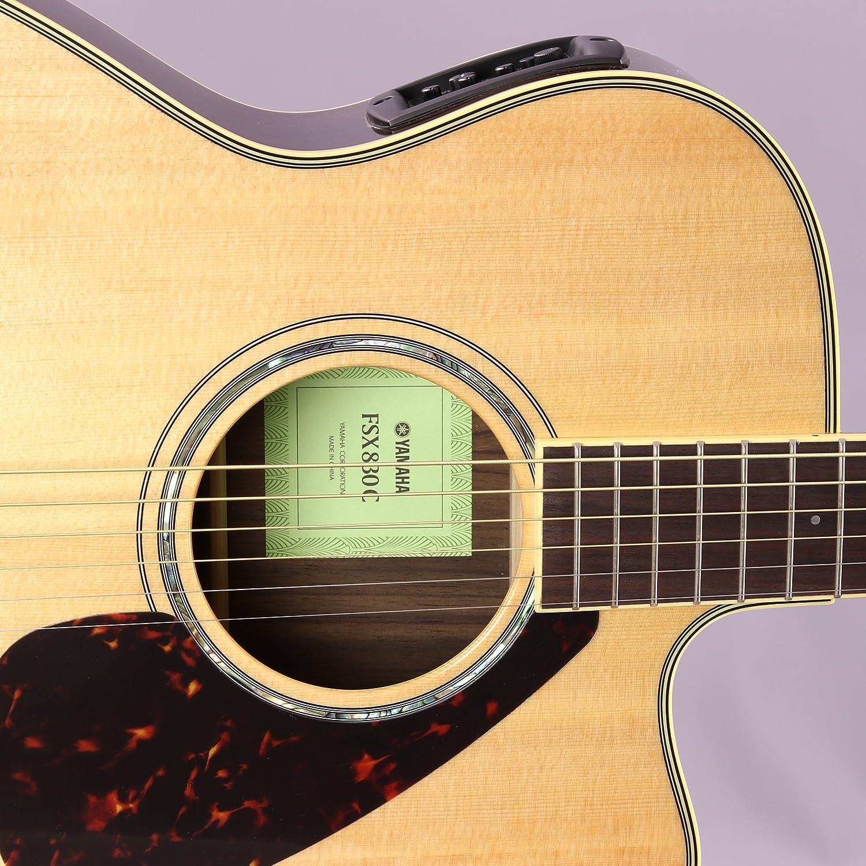 Yamaha fsx830 C pequeño cuerpo Cutaway Guitarra Electroacústica guitarra, maciza, madera de palisandro en la parte superior y lados, con Legado accesorio ...