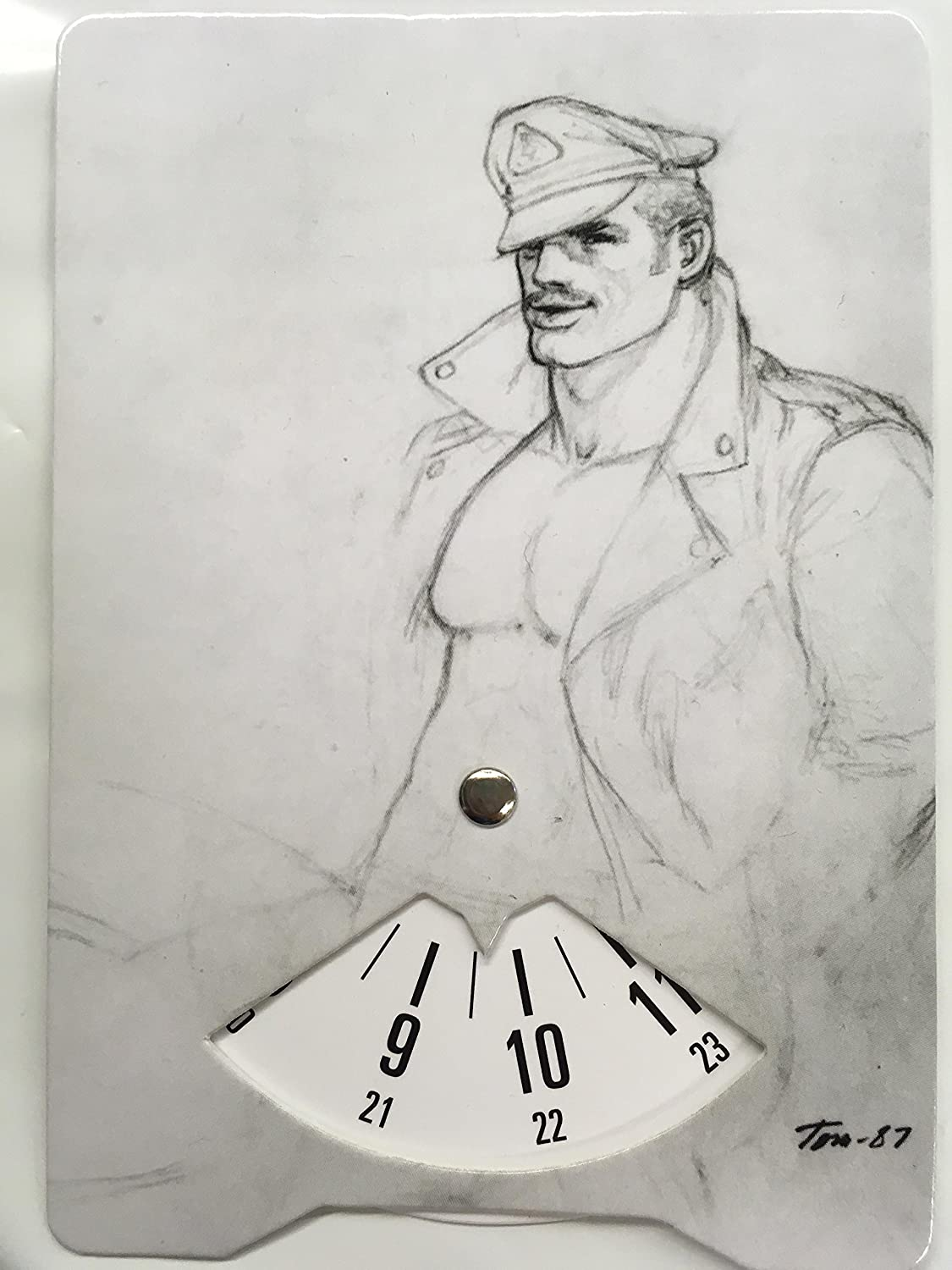 TOM OF FINLAND Card w Time Display for Parking and Pleasure Biker