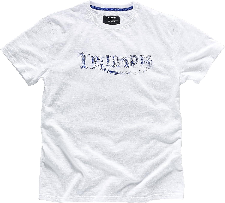 V/éritable T-shirt vintage logo Triumph Motorcycles Rouge