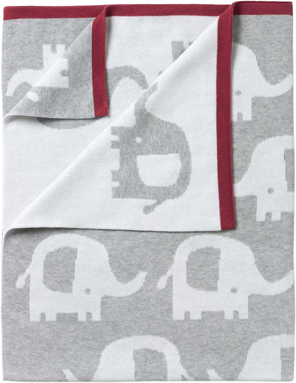 Brand new in pack Clair de lune Eli the elephant reversible blanket in grey