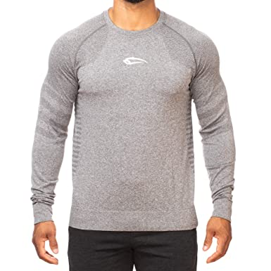753e0162750a SMILODOX Slim Fit Longsleeve Herren 'Strap' | Seamless - Funktionsshirt für Sport  Fitness Gym & Training | Langarmshirt - Trainingsshirt Langarm ...