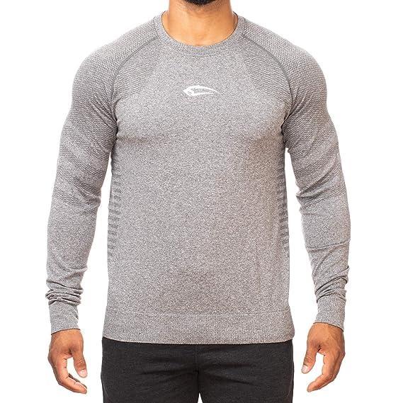 1235bf15 SMILODOX Slim Fit Longsleeve Men 'Strap'   Seamless - Function Shirt for  Sport Fitness Gym & Training   Long-Sleeved Shirt - Training Shirt Long  Sleeve