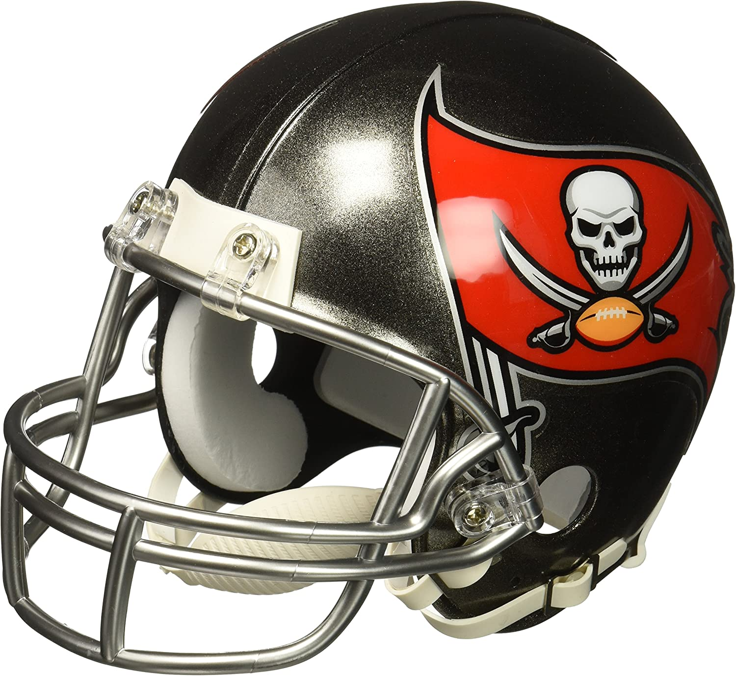 amazon com nfl tampa bay buccaneers replica mini helmet medium black red sports related collectible mini helmets sports outdoors nfl tampa bay buccaneers replica mini helmet medium black red
