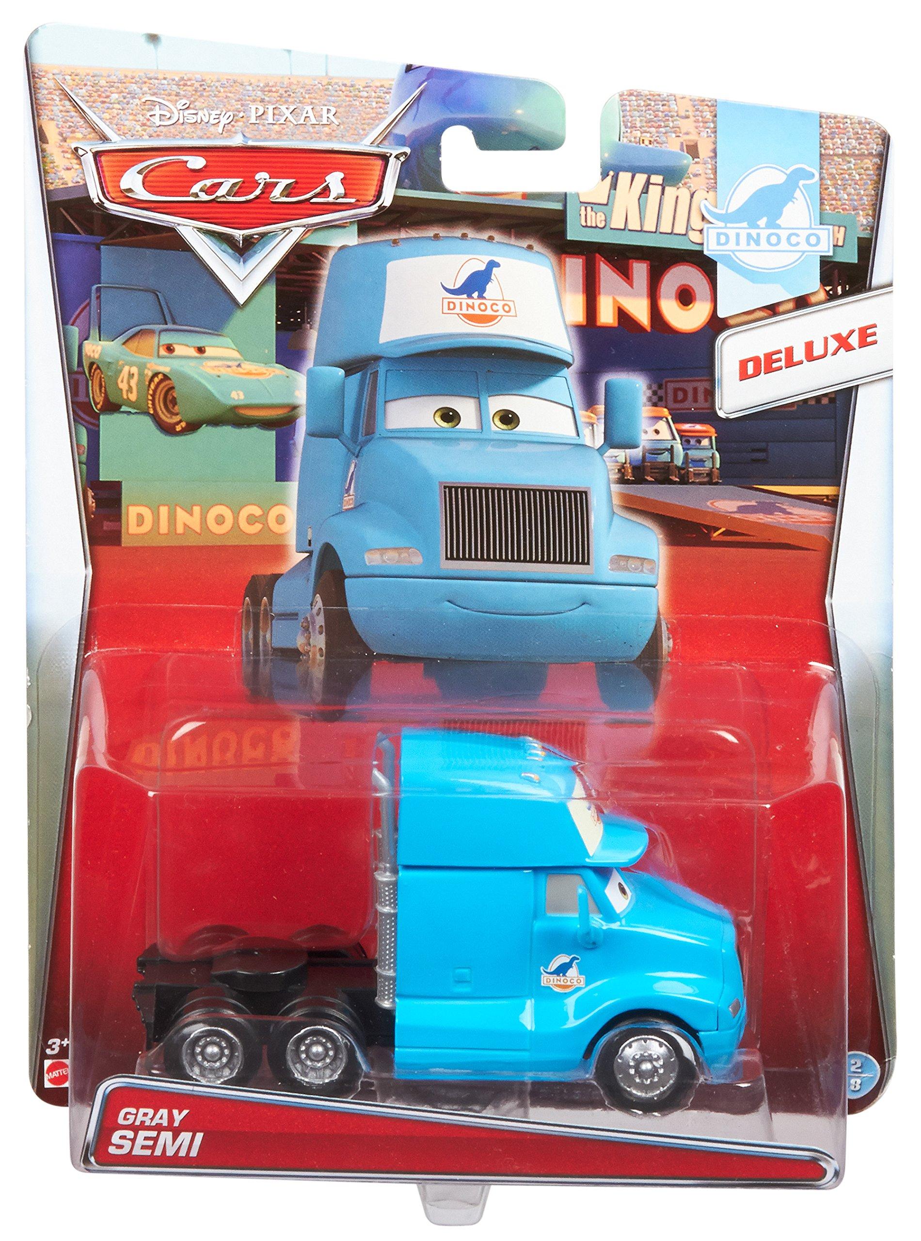 Disney Pixar Cars Deluxe Oversized Die-Cast Vehicle, Gray Semi