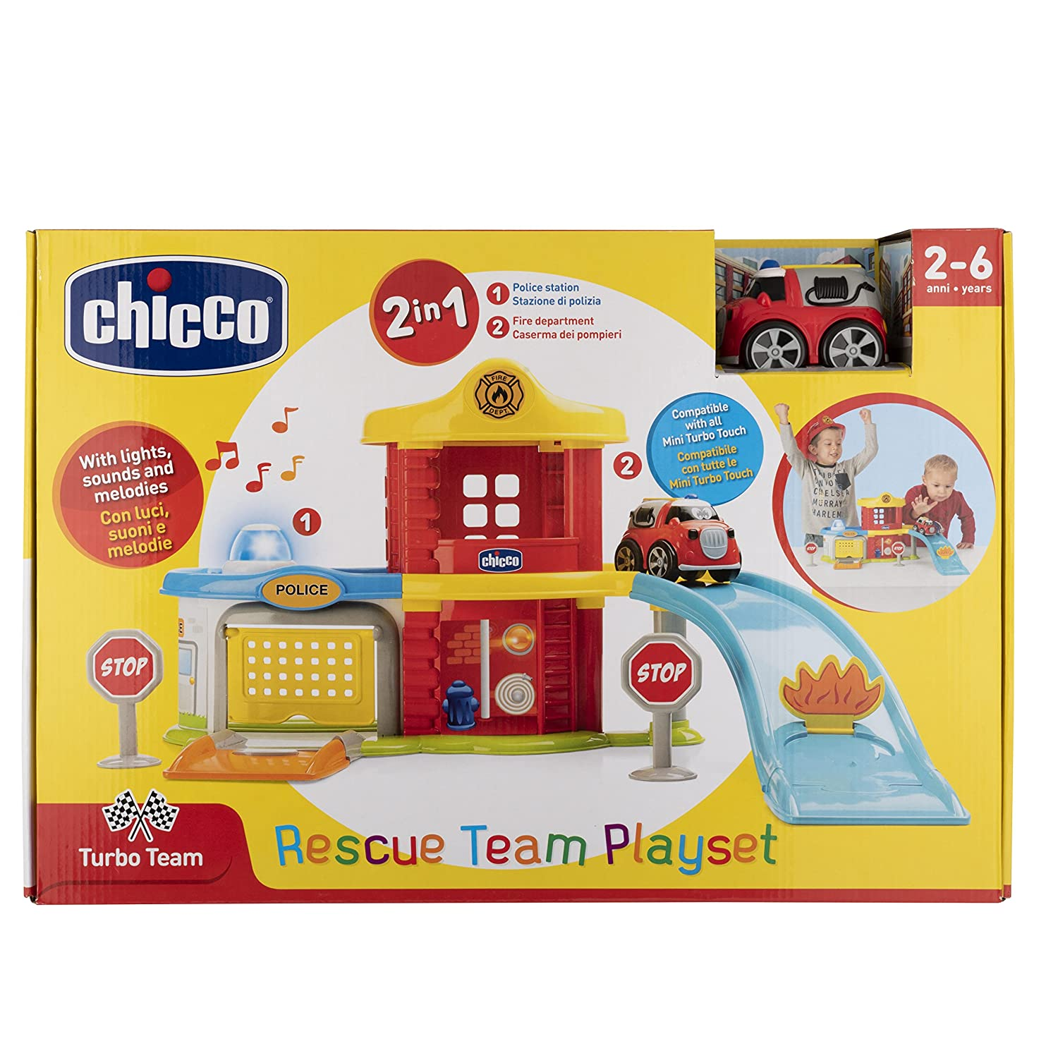 Amazon.com: Chicco Game Police-fire Station Playset – Multicoloured, 00009358000000: Toys & Games