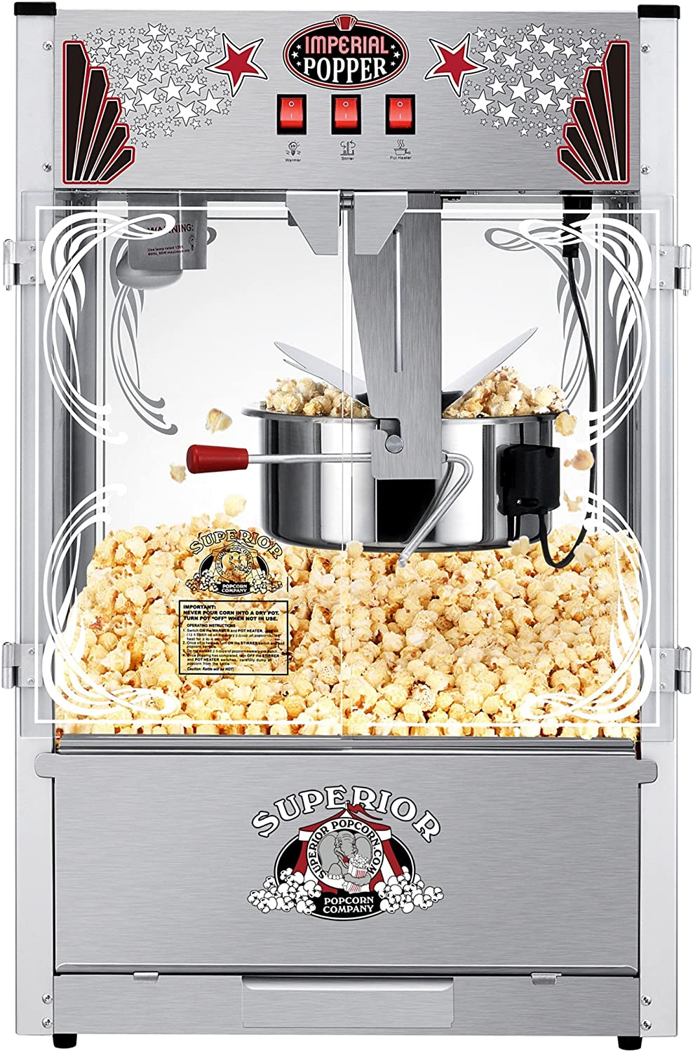Amazon Com Tabletop Popcorn Maker Machine With 20 Ounce Kettle Theater Style Popper With Scoop Popcorn Bags Buckets And More By Superior Popcorn Company Kitchen Dining
