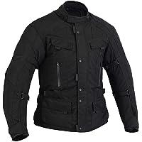 Chaqueta para moto INFINITY, impermeable, térmica, reforzada, con entradas de aire, color negro