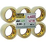 Scotch Flatpack de 6 Rouleaux Ruban Polypropylène Classic - 50 mmx 66 m - Couleur Transparent