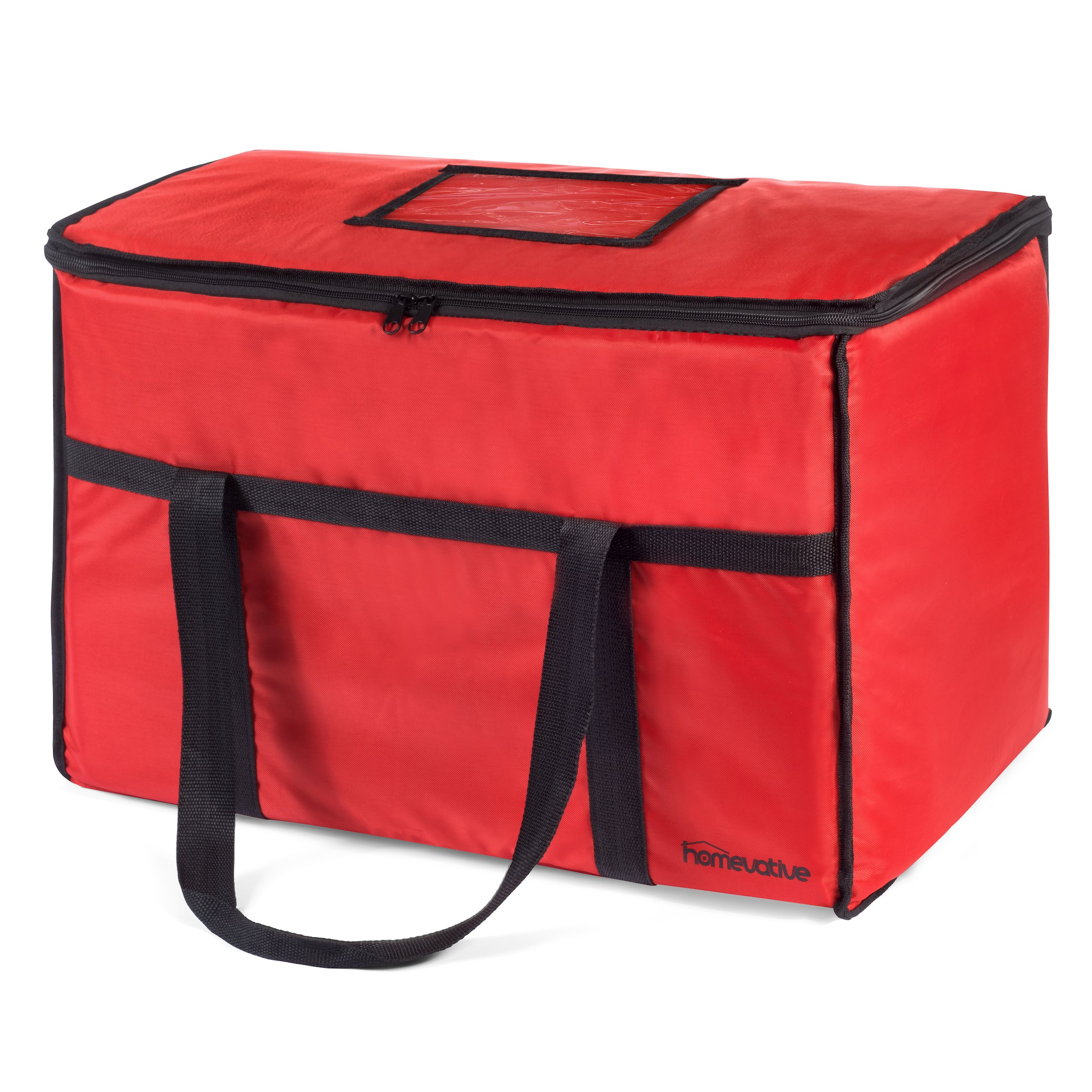 Homevative Nylon Insulated Food Delivery and Reusable Grocery Bag - For Catering, Restaurants, Delivery Drivers, Uber Eats, Grubhub, Postmates, and more.