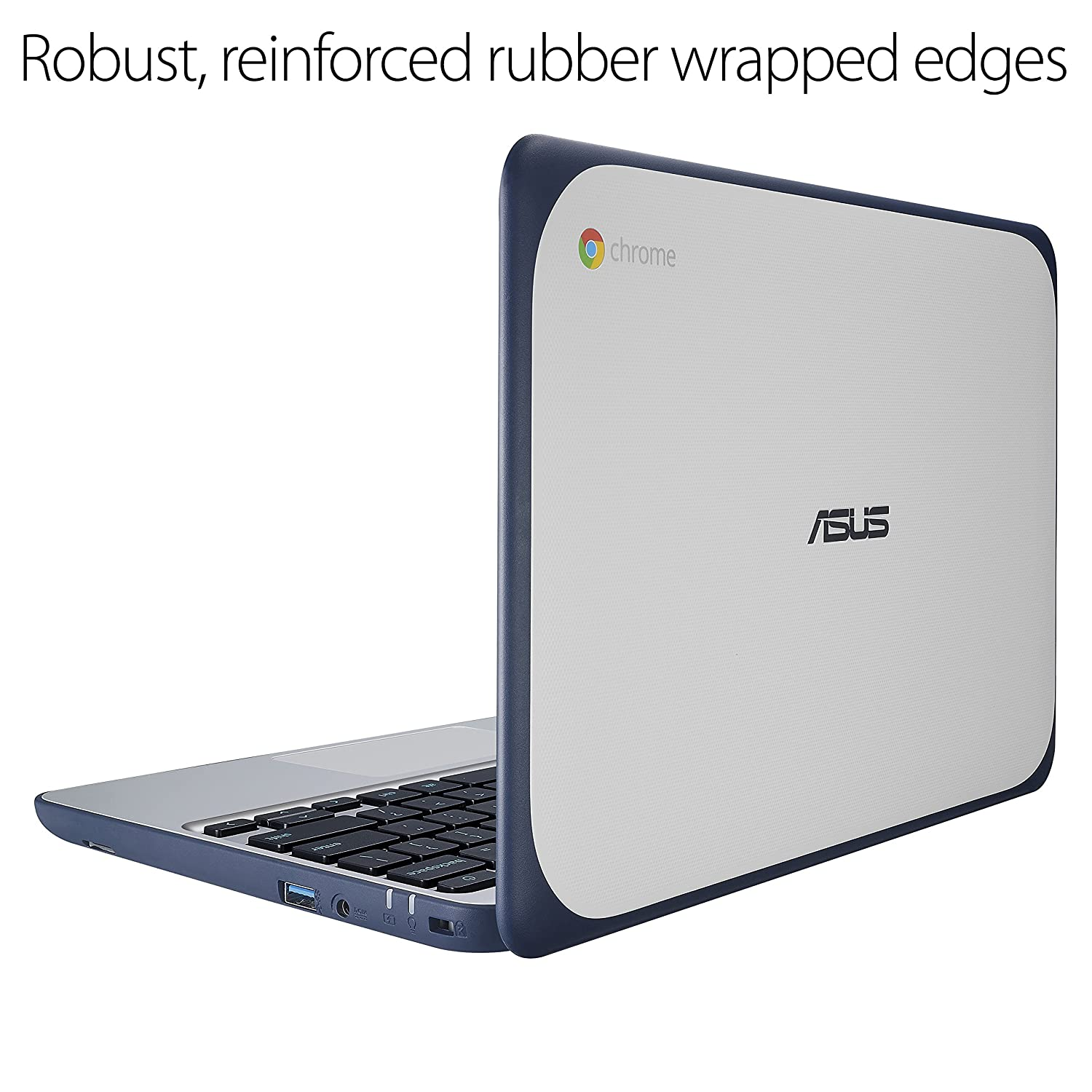Intel Celeron 4 GB, 16GB eMMC, Dark Blue, Silver Blue /& Basics 11.6 Inch Laptop Tablet Sleeve Case ASUS Chromebook C202SA-YS02 11.6 Ruggedized and Water Resistant Design with 180 Degree