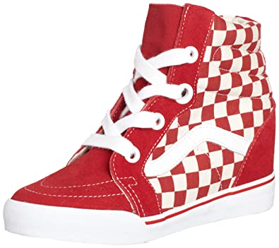 04cb869bfeae Vans Women s Sk8-Hi Wedge Low-Top Sneakers  Amazon.co.uk  Shoes   Bags