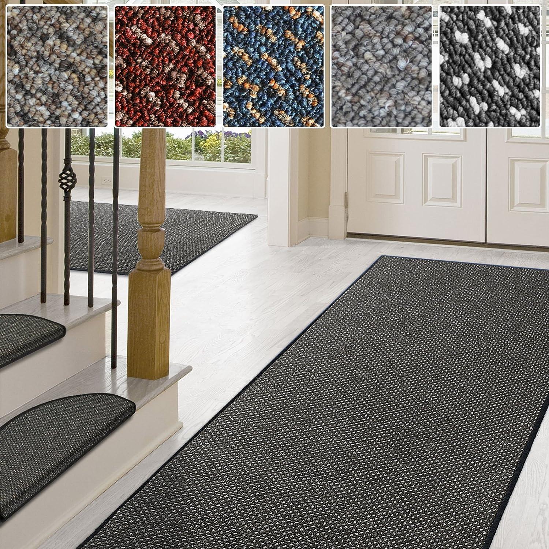 Casa pura Teppich Läufer in zahlreichen Größen   Anthrazit, gepunktet   Qualitätsprodukt aus Deutschland   Teppichläufer mit GUT Siegel   Küchenläufer, Flurläufer (80x250 cm) B01D1KS80E Lufer
