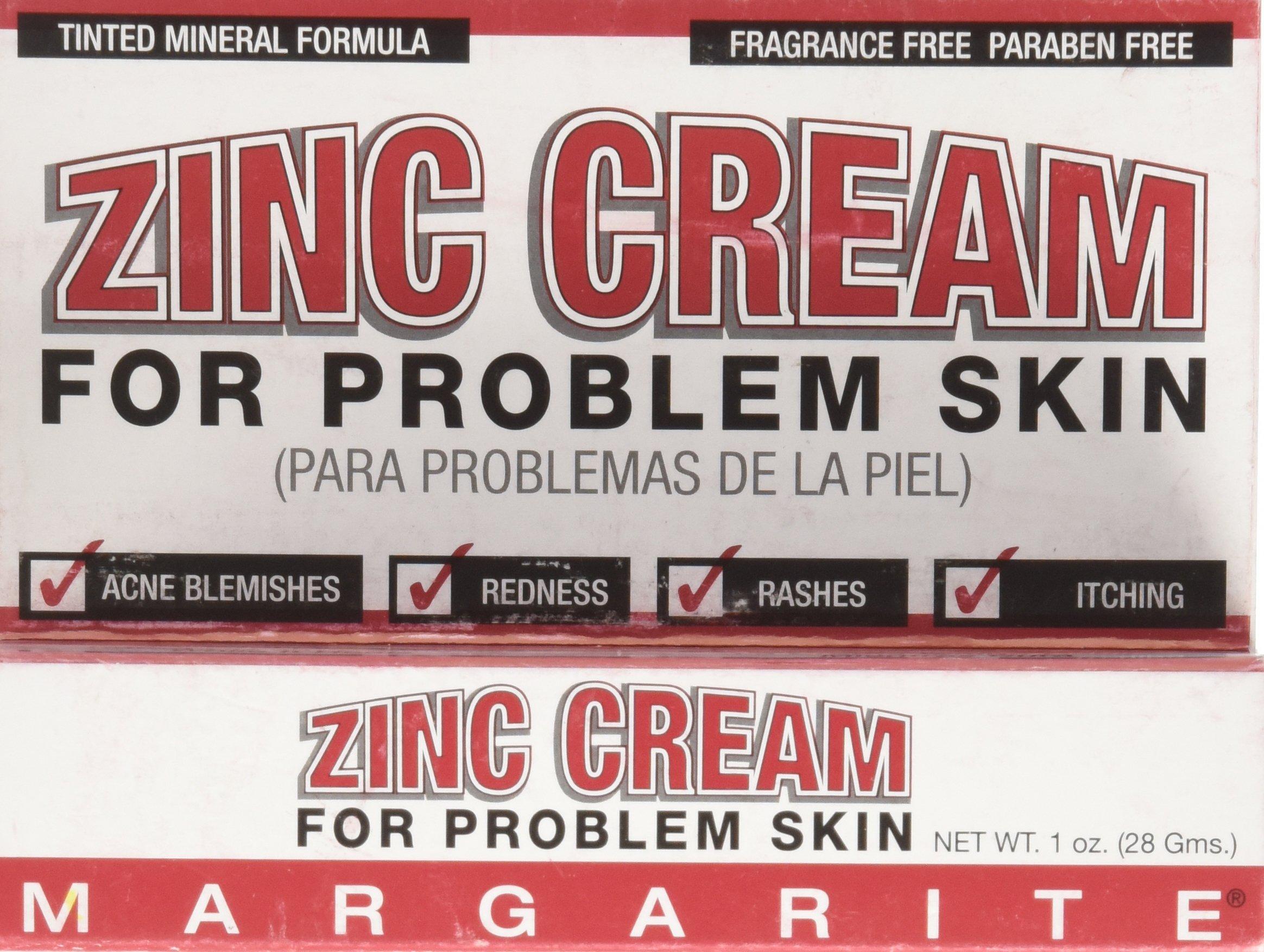 Margarite Cosmetics Zinc Cream, 1 Ounce (Pack of 24)