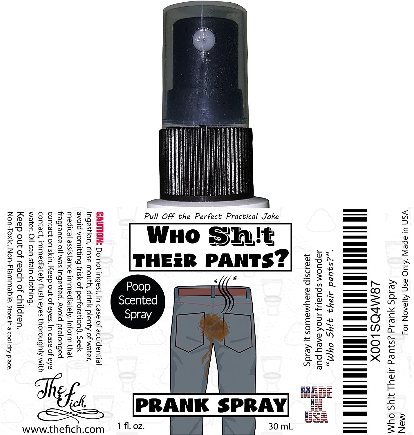 Who Sh   Their Pants? Made in USA Highly Concentrated Diarrhea Scented  Fragrance Oil Prank Stuff Gag Gift Spray