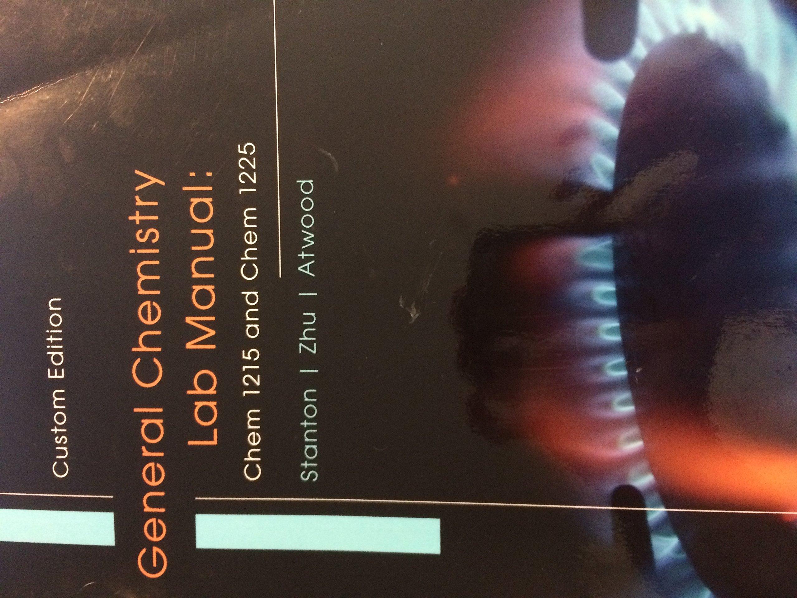 General Chemistry Lab Manual: Chem 1215 and Chem 1225: 9781305758087:  Amazon.com: Books