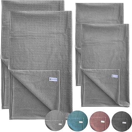 HOMELEVEL - Toallas de Ducha y de Mano, 100% algodón, diseño de ...