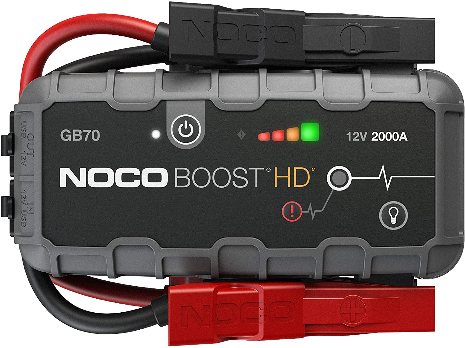 NOCO Boost HD GB70 2000 Amp 12-Volt UltraSafe 12-Volt UltraSafe Lithium Jump Starter For Up To 8-Liter Gasoline And 6-Liter Diesel Engines