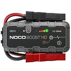 NOCO Boost HD GB70 2000 Amp 12-Volt UltraSafe 12-Volt UltraSafe Lithium Jump Starter For Up To 8-Liter Gasoline And 6-Liter Diesel Engines