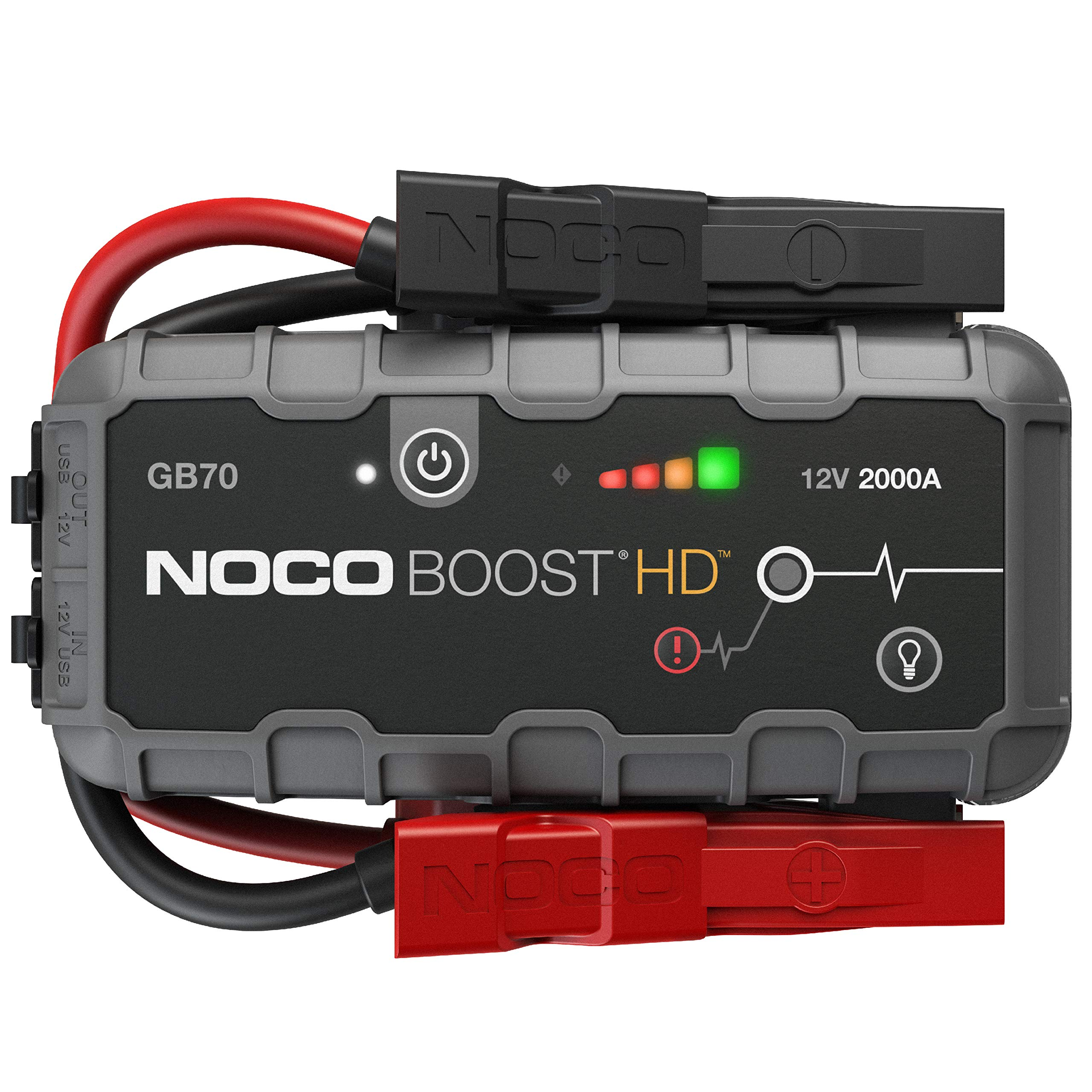 NOCO Boost HD GB70 2000 Amp 12-Volt UltraSafe Portable Lithium Jump Starter, Car Battery Booster Pack, And Jump Leads For Up To 8-Liter Gasoline And 6-Liter Diesel Engines