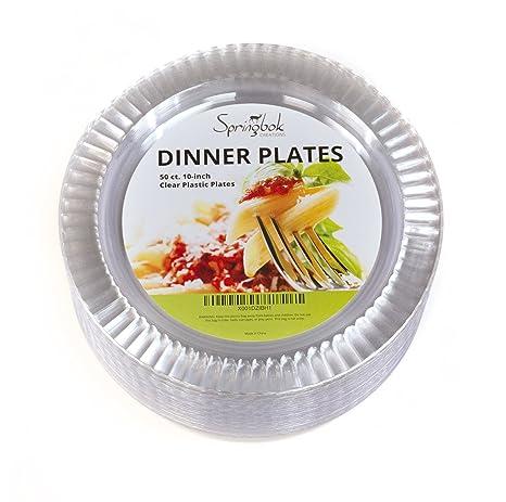 Springbok 10-inch Clear Plastic Dinner Plates (50 Count)  sc 1 st  Amazon.com & Amazon.com: Springbok 10-inch Clear Plastic Dinner Plates (50 Count ...