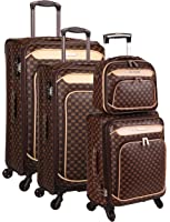 Set de 3 valises 4 roues et un beauty case smart pvc II