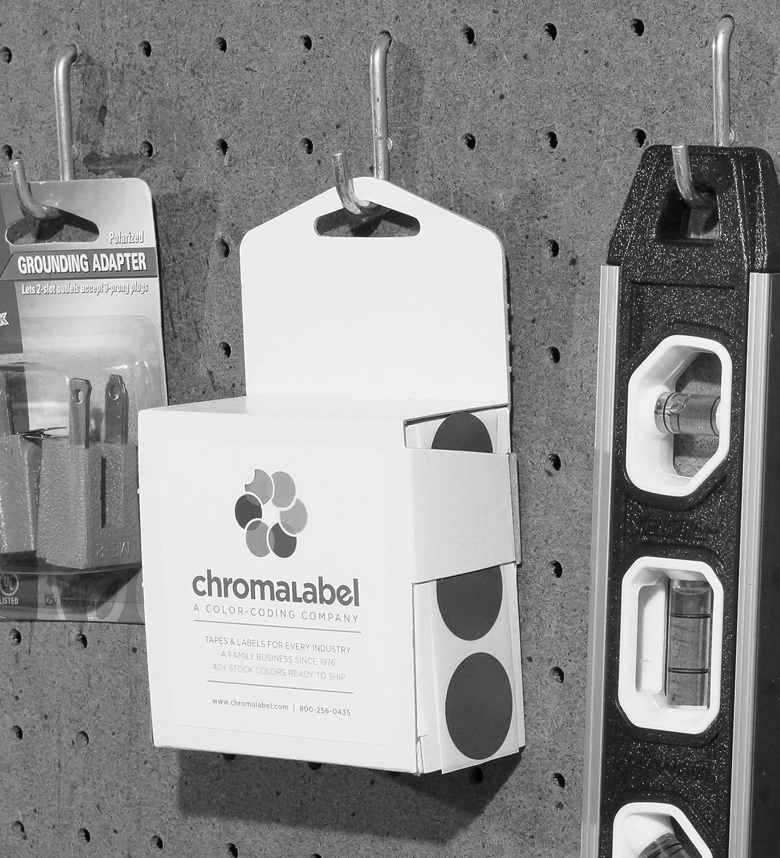 ChromaLabel Adesivi rotondi permanenti con codice colore da 2,5 cm 1000 pezzi per scatola dispenser 1 Diameter Lyndee