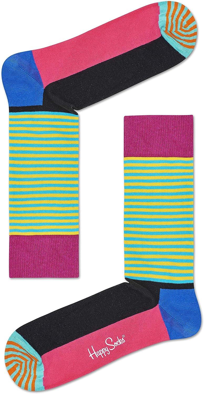 Happy Socks Half Stripe Sock Calcetines, Color negro y rosa, Talla única para Hombre: Amazon.es: Ropa y accesorios