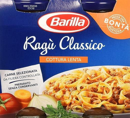 11 opinioni per Barilla Ragù Classico- 6 confezioni da 2 pezzi da 180 g [12 pezzi, 2160 g]
