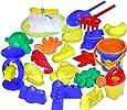 Kidzlane Beach Toys, Sand Toys Set for Kids, Beach Sand Toys in a Mesh Bag, 20 Piece