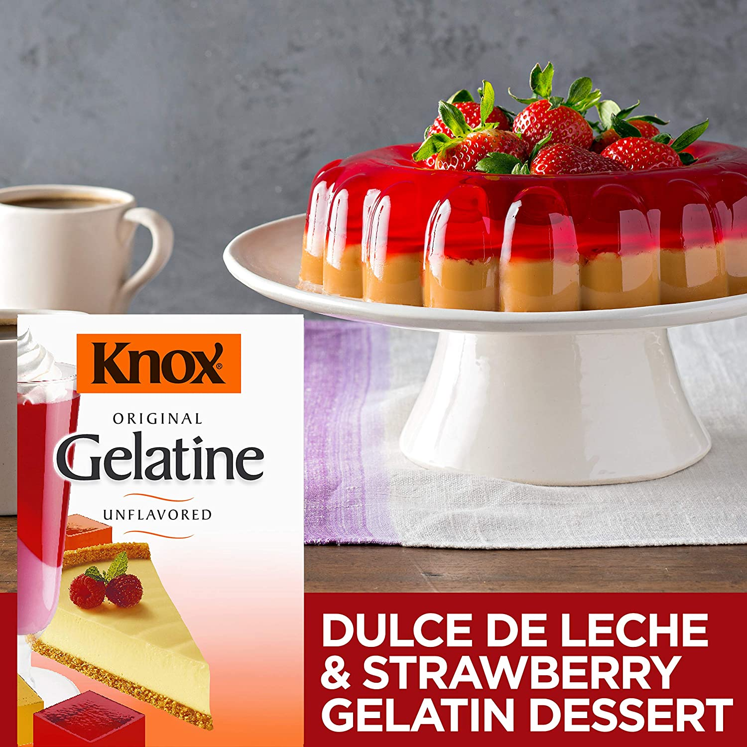 Knox Unflavored Gelatin Dessert Mix, Individual Packets, 32 Count