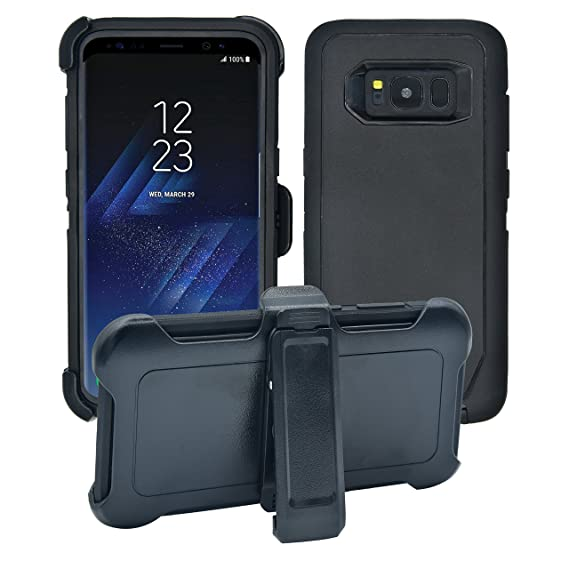 sale retailer 8d717 72544 AlphaCell Cover Compatible with Samsung Galaxy S8 | Holster Case Series |  Military Grade Protection with Carrying Belt Clip | Protective Drop-Proof  ...