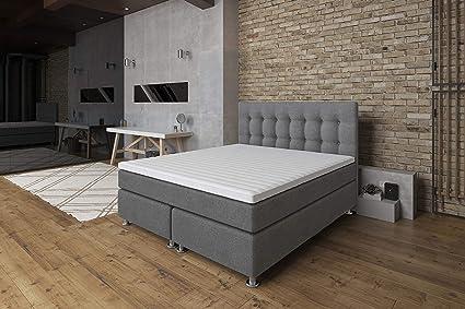 Cama con somier 140 x 200 Ronda, Lux confort, 7 zonas, colchón de