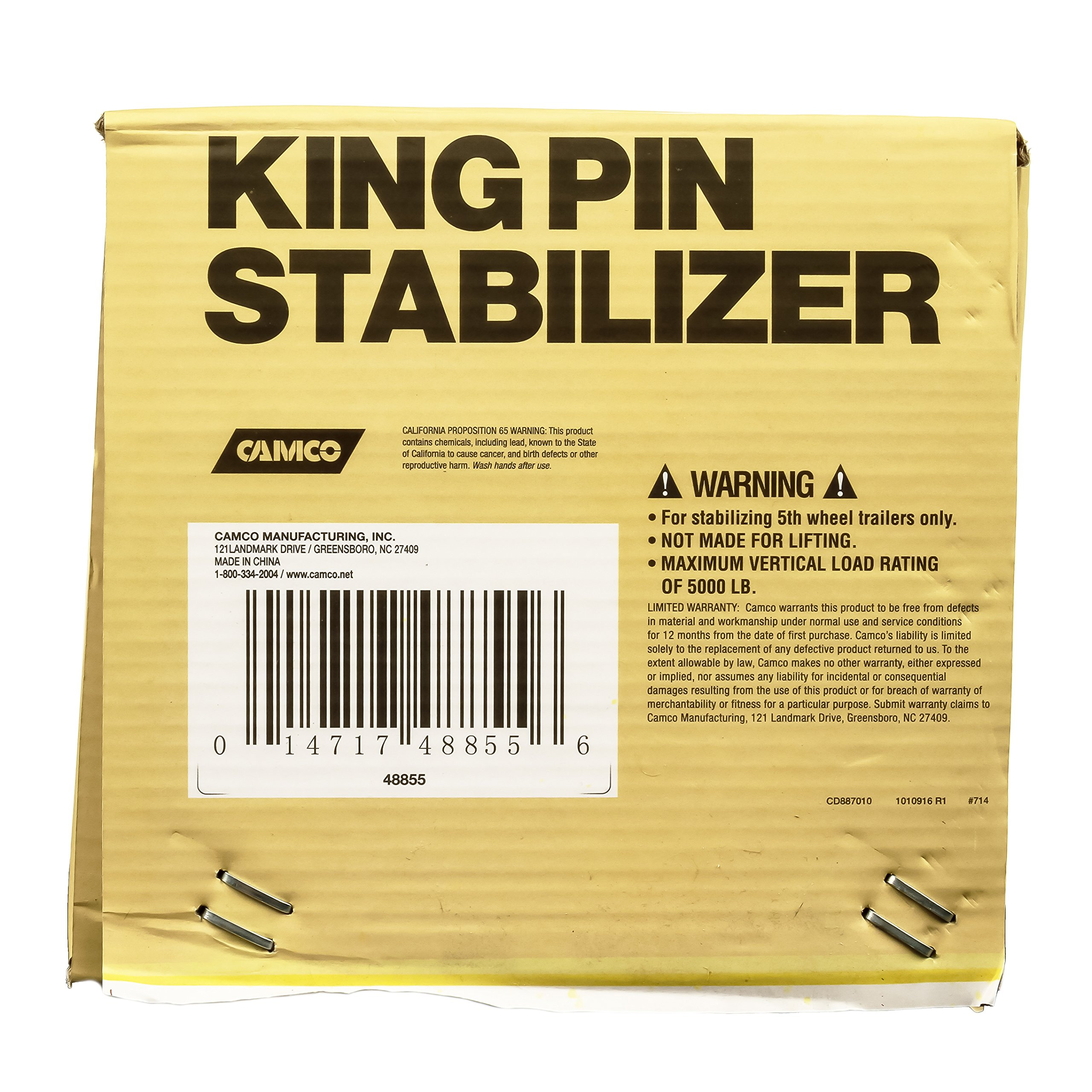Camco 57391 Olympian King Pin 5th Wheel Stabilizer by Camco (Image #16)