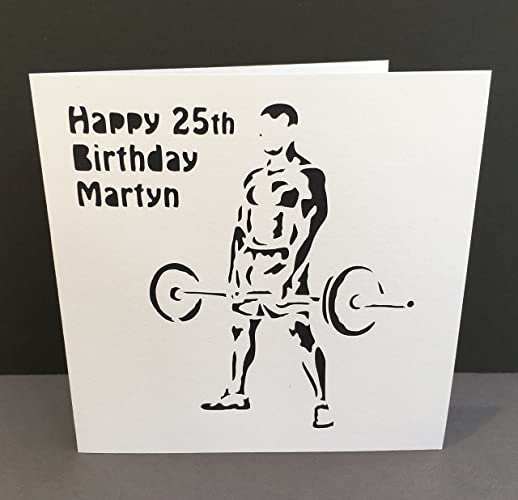 Weight lifter birthday card fathers day card strong man paper weight lifter birthday card fathers day card strong man paper cut card m4hsunfo