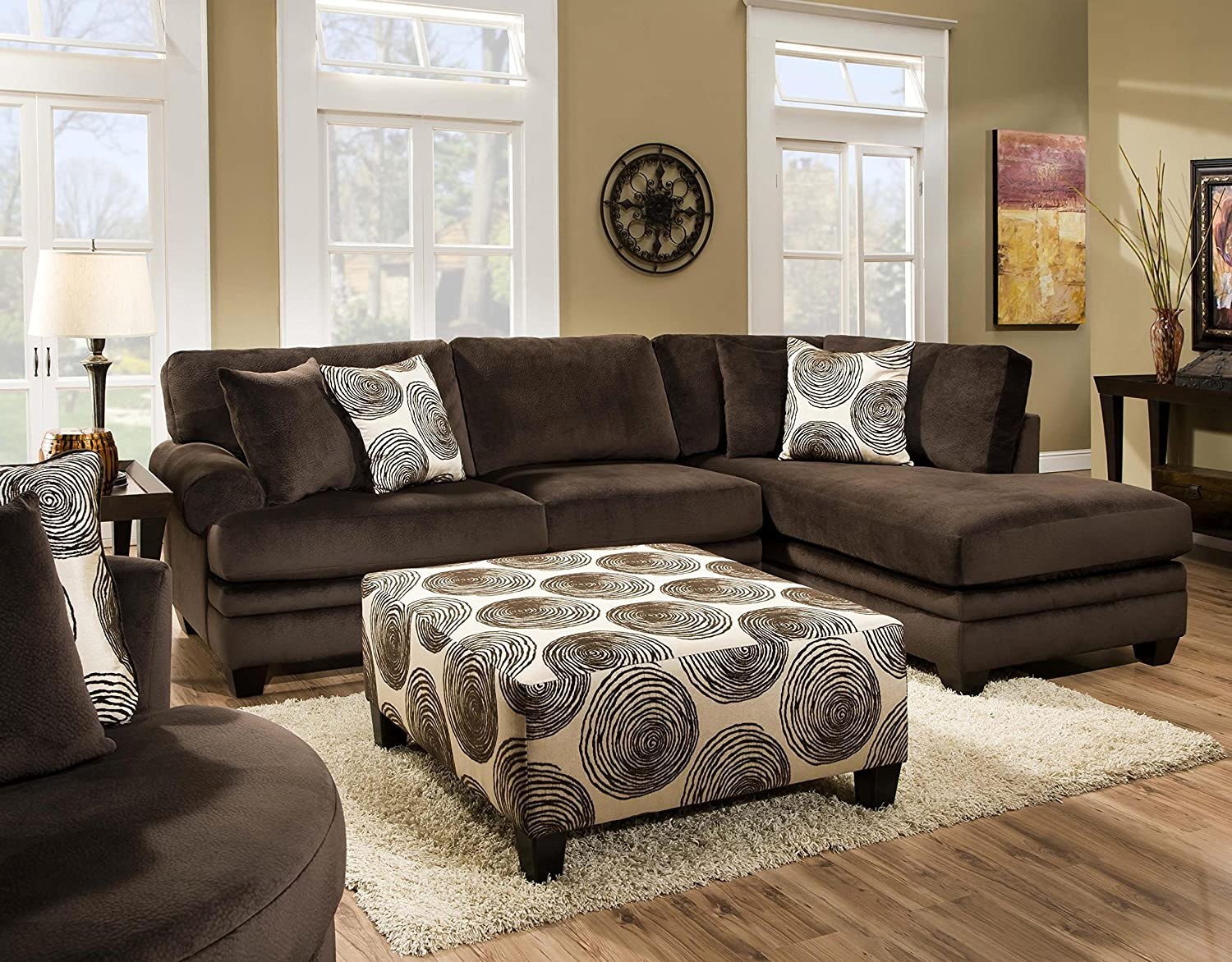 Amazon Chelsea Home Furniture Rayna 2 Piece Sectional Groovy