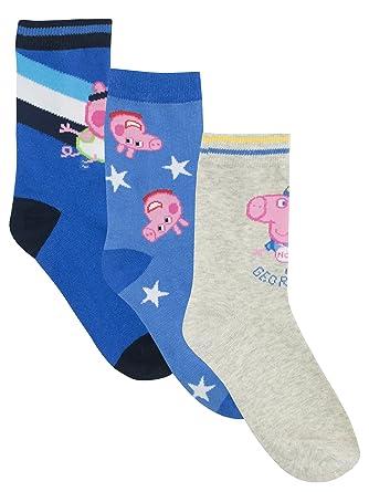 Peppa Pig Boys George Pig Socks Pack of 3 Size 10/12