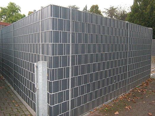 10 Privacidad rayas gris claro en Juego – PVC duro – Visión – Protección Wind – Tiras para cercas – Vallas Valla – Varilla rejilla Vallas: Amazon.es: Jardín