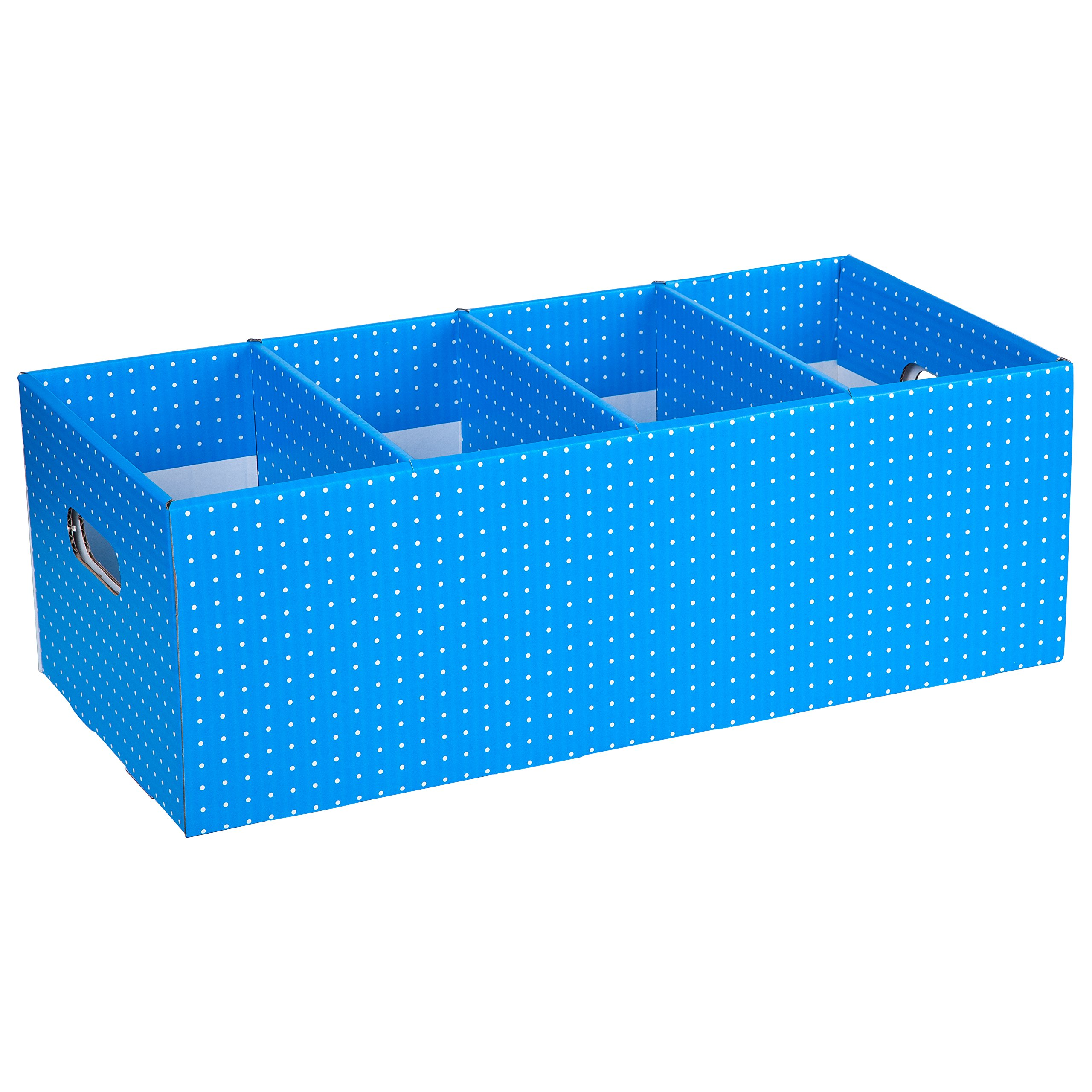 Tote Box Vibrant Spotty Colors, Strong Book Storage,Theme and Display Box. 7.25'' x 10.5'' x 21.5'', Blue (CITBB019962243325)
