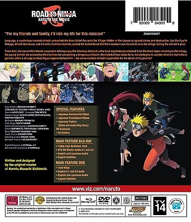 Amazon com: Naruto Shippuden Road to Ninja the Movie 6 Combo Pack