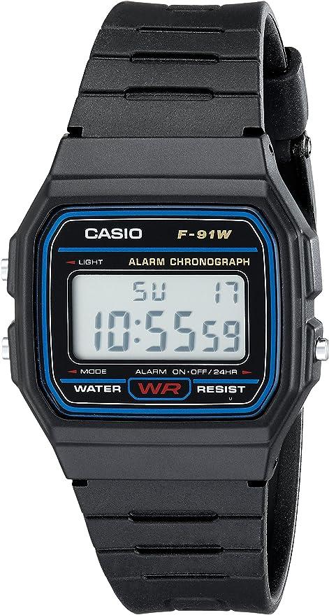 Casio Homme F91 W 1 Classique Noir Montre de Sangle de  qDfq6